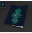 Notebook Cover Template Line Art Design vector image