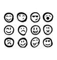 set of emoticons set of emoji isolated vector image