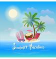 Summer Beach Vacation Exotic Tropical Island vector image