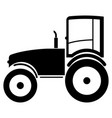 tractor the black color icon vector image