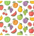 Fruit pattern vector image