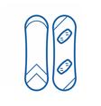 Snowboard Outline Monochrome Icon vector image