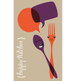 Social happy kitchen vector image