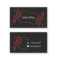 black business card with pcb elements vector image
