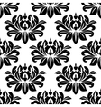 Damask seamless pattern with bold black motifs vector image vector image