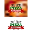 Italian pizza banner vector image vector image