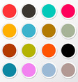 Colorful Circle Paper Empty Labels Set vector image
