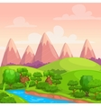Cute bright sunny day landscape vector image
