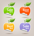 Collections colorful sticker apple vector image vector image