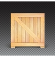 Wooden box isolated icon vector image