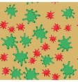 Green and red blot cartoon seamless pattern 623 vector image