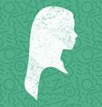Little girl profile silhouette kid art background vector image