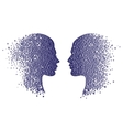 Man and woman head icons Psychology concept vector image
