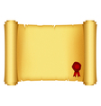 scroll with red stamp vector image