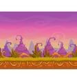 Seamless cartoon fantasy landscape vector image