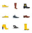 slipper icons set flat style vector image
