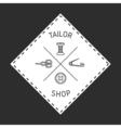 Tailor badge emblem vector image