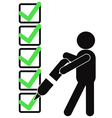 symbol people with checklist vector image vector image