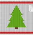 Christmas tree knitted pattern vector image