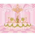Dining Room in Princess Palace vector image