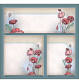 Vintage flower banners in different layout set vector image vector image