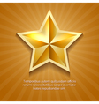 Golden star poster with orange sun burst retro vector image vector image