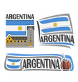 logo for argentina vector image