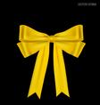 Gold ribbon vector image
