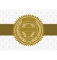 golden label vector image vector image