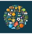 sport logo design template physical vector image