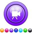 Video camera circle button vector image