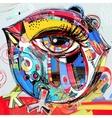original abstract digital painting artwork of vector image vector image