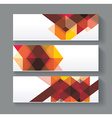 Banners with bright geometrical abstract lines vector image