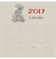 calendar Year of rooster usa format vector image