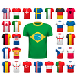 Collection of various soccer jerseys National vector image