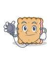 doctor biscuit cartoon character style vector image