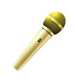 karaoke golden microphone vector image