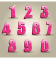 Pink numbers vector image