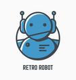 retro robot logo vector image