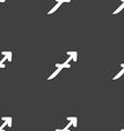 Sagittarius sign Seamless pattern on a gray vector image
