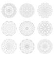 Zentangle mandala for adult coloring vector image