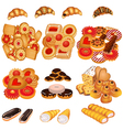 set tasty sand cookies and cake vector image vector image