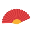 fan flamenco accesory icon vector image