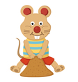 mouse feeding vector image