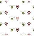 Bunch of grapes seamless pattern vector image