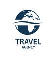 travel earth logo vector image