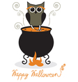 Owl and cauldron vector image vector image