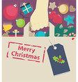 Shopping paper bag stamped with Christmas wish vector image vector image