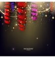 Colorful confetti and ribbons Holiday background vector image vector image