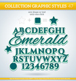 Emerald Graphic Styles for Design use for decor vector image